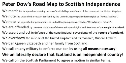 Road Map to Scottish Independence