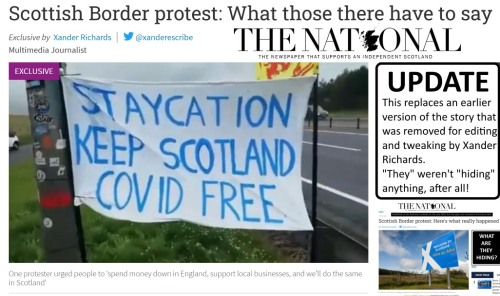 [THE NATIONAL] Scottish Border protest: What those there have to say